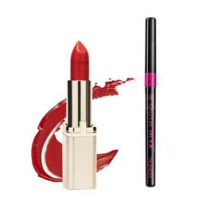 Buy L'Oreal Paris Color Riche Matte Lipstick - 377 Perfect Red + Free Kajal Magique  - Nykaa