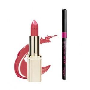 Buy L'Oreal Paris Color Riche Matte Lipstick - 378 Velvet Rose + Free Kajal Magique  - Nykaa