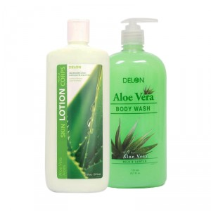 Buy Delon Aloe Vera Skincare Paraben Free Body Wash + Lotion Combo - Nykaa