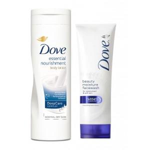 Buy Dove Beauty Moisture Face Wash + Dove Essential Nourishment Body Lotion - Nykaa