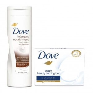 Buy Herbal Dove Cream Beauty Bathing Bar + Dove Indulgent Nourishment Body Lotion - Nykaa