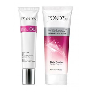 Buy Ponds White Beauty Blemish Balm Fairness Cream + Ponds White Beauty Tan Removal Scrub - Nykaa