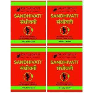 Buy Dr. Vaidya's Sandhivati Pills For Joint Pain, Muscular Pain & Arthritis (Pack Of 4) - Nykaa