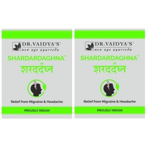 Buy Dr. Vaidya's Shardardaghna Pills For Migraine & Headache (Pack Of 2) - Nykaa