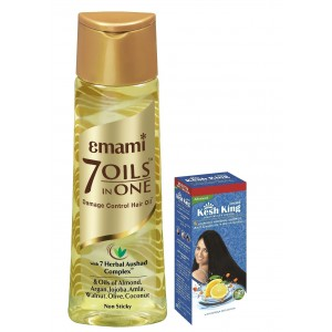 Buy Emami Hair Life 7 In 1 Oil + Free Emami Kesh King Scalp and Hair Medicine Shampoo - Nykaa