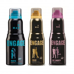 Buy Engage Men Deodorant - Mate + Fuzz + Intensity Deo Free - Nykaa