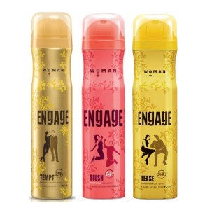 Buy Engage Woman Deodorant - Tempt + Blush + Tease Deo Free - Nykaa