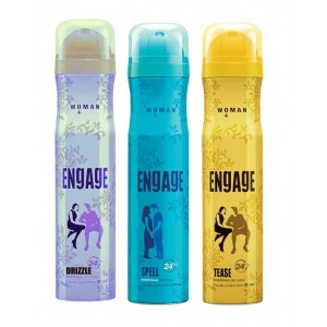 Buy Engage Woman Deodorant - Drizzle + Spell + Tease Deo Free - Nykaa