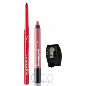 Buy Herbal Faces Magneteyes Kajal - Lasts All Day - Black + Ultime Pro Matte Lip Crayon - Peach Me 08 With Free Sharpener - Nykaa