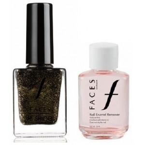 Buy Faces Nail Enamel Remover + Hi Shine Nail Enamel - Black Drama 139 - Nykaa
