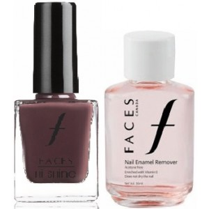 Buy Herbal Faces Nail Enamel Remover + Hi Shine Nail Enamel - Marsala 137 - Nykaa