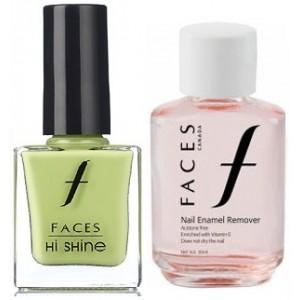 Buy Faces Nail Enamel Remover + Hi Shine Nail Enamel - Crunchy pistachio - Nykaa