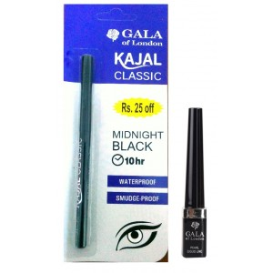 Buy Gala Of London Black Liner And Kajal Combo - Nykaa