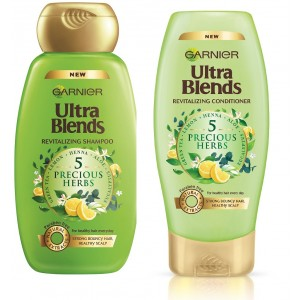 Buy Garnier Ultra Blends 5 Precious Herbs Shampoo + Conditioner (75ml) - Nykaa