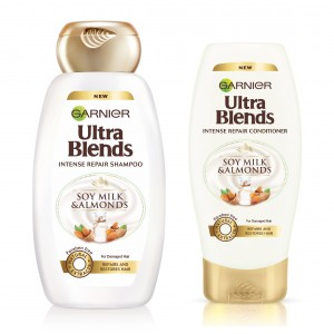 Buy Garnier Ultra Blends Soy Milk & Almonds Shampoo + Conditioner (75ml) - Nykaa