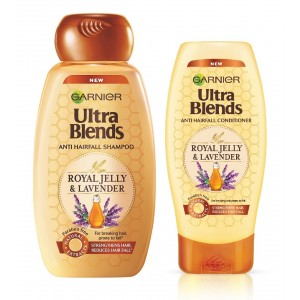 Buy Garnier Ultra Blends Royal Jelly & Lavender Shampoo + Conditioner (75ml) - Nykaa
