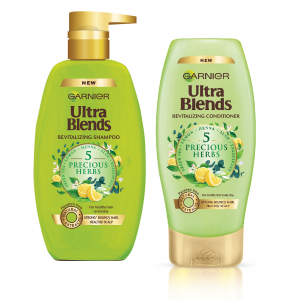 Buy Herbal Garnier Ultra Blends 5 Precious Herbs Shampoo (640ml) + Conditioner (175ml) - Nykaa