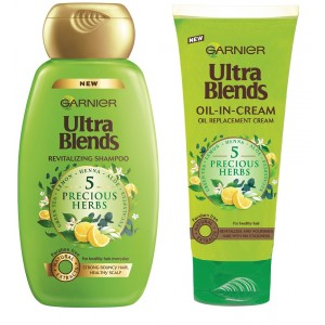 Buy Herbal Garnier Ultra Blends 5 Precious Herbs Shampoo (175ml) + Oil-in-Cream (200ml) - Nykaa