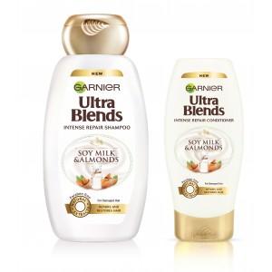 Buy Garnier Ultra Blends Soy Milk & Almonds Shampoo (340ml) + Conditioner (175ml) - Nykaa