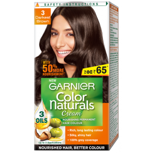 Buy Garnier Color Naturals - 3 Darkest Brown (Rs. 15 Off) - Nykaa