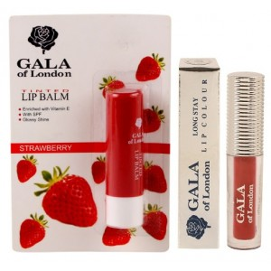 Buy Gala Of London Long Stay Lip Colour + Lip Balm Combo 2 - Nykaa