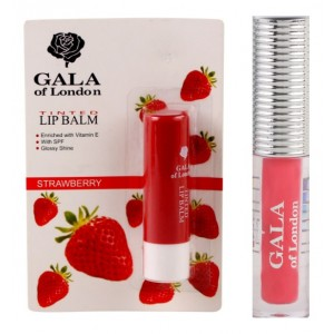 Buy Gala Of London Long Stay Lip Colour + Lip Balm Combo 3 - Nykaa