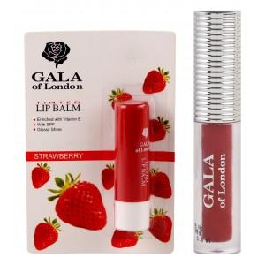 Buy Gala Of London Long Stay Lip Colour + Lip Balm Combo 4 - Nykaa