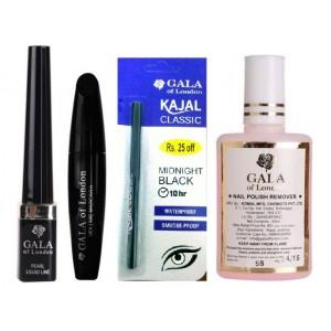 Buy Gala of London Liner, Mascara & Kajal Combo - Nykaa
