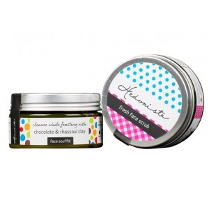 Buy Hedonista Strawberry & Chocolate Twosome - Combo Pack Of Fresh Face Scrub And Face Souffle - Nykaa
