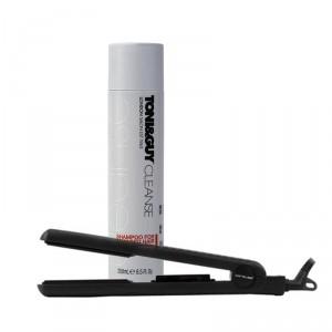 Buy Toni&Guy Cleanse Shampoo For Damaged Hair + Corioliss Pro-V Jet Black Hair Straightener - Nykaa