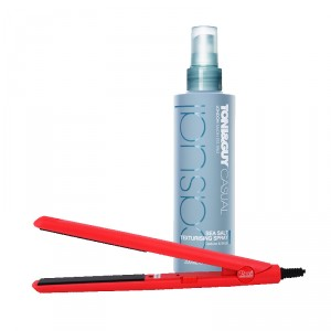 Buy Roots Professional HSLM Hair Straightener + Toni&Guy Casual Sea Salt Texturising Spray - Nykaa