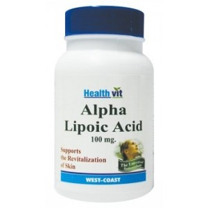 Buy HealthVit Alpha Lipoic Acid 100 MG 60 Tablets For Hair & Skin Care - Nykaa