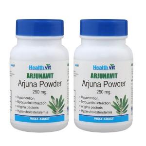Buy HealthVit Arjunavit Arjuna Powder 250mg (Pack of 2) - Nykaa