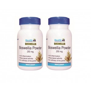 Buy HealthVit Boswellia Powder For Healthy Joints 250mg (Pack of 2) - Nykaa