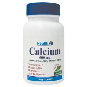 Buy HealthVit Calcium 600mg (30 Tablets) - Nykaa