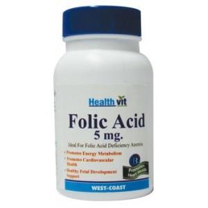 Buy Herbal HealthVit Folic Acid 5mg 60 Tablets for Cardiac Care - Nykaa