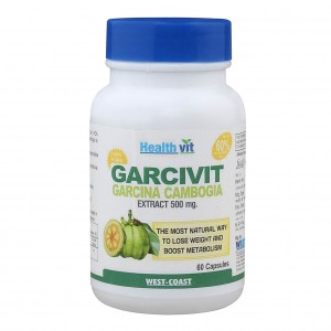 Buy HealthVit Garcivit Garcinia Powder 500 mg (60 Caps) - Nykaa