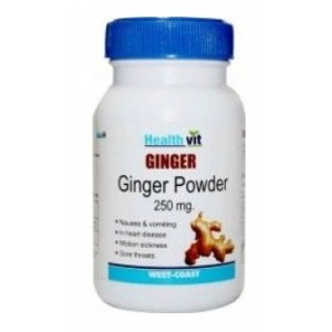 Buy HealthVit Ginger Powder 250 mg (60 Caps) - Nykaa