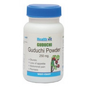 Buy HealthVit Guduchi Powder 250 mg (60 Caps) - Nykaa
