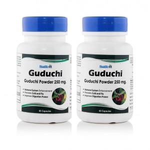 Buy HealthVit Guduchi Powder 250mg (Pack of 2) - Nykaa