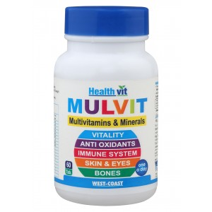Buy HealthVit Mulvit Multivitamins And Minerals (60 Tablets) - Nykaa