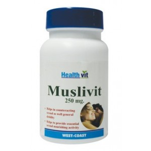 Buy HealthVit Muslivit 250mg (60 Caps) - Nykaa