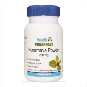 Buy HealthVit Punarnava Powder 250mg (60 Caps) - Nykaa