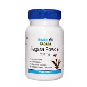 Buy Herbal HealthVit Tagara Powder 250mg 60 Capsules For Sleep Disorders - Nykaa