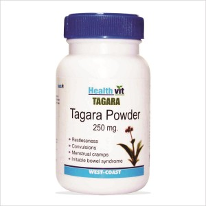 Buy HealthVit Tagara Powder 250mg 60 Capsules For Sleep Disorders - Nykaa