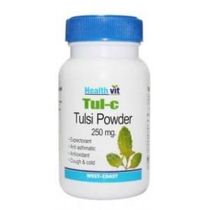 Buy Healthvit Tul-C Tulsi Powder 250mg (60 Caps) - Nykaa