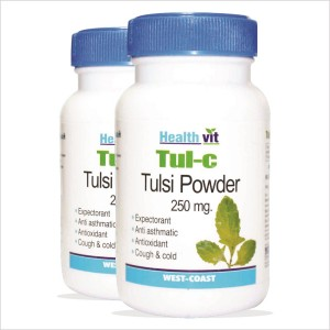 Buy Healthvit Tul-C Tulsi Powder 250mg (Pack of 2) - Nykaa