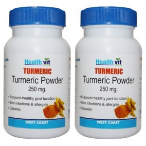 Buy Healthvit Turmeric Powder 400mg (Pack of 2) - Nykaa