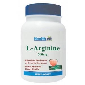 Buy Healthvit L-Arginine 500mg (60 Caps) - Nykaa