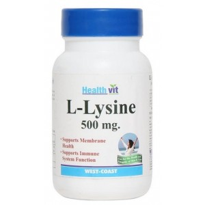 Buy Healthvit L-Lysine 500mg (60 Tablets) - Nykaa